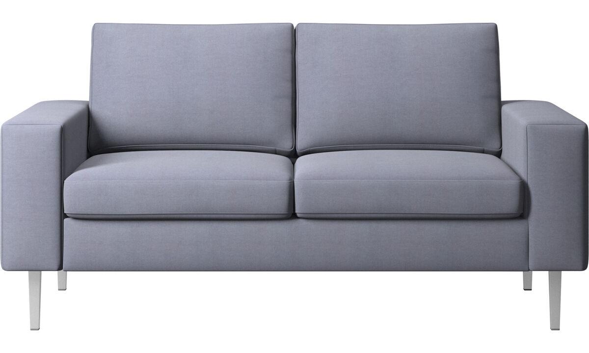 Sofás de 2 plazas - sofá Indivi - En azul - Tela