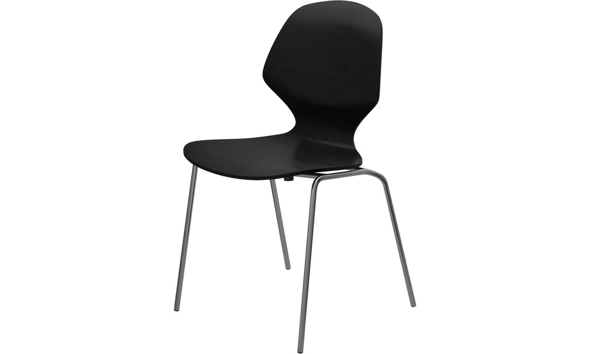 Dining chairs - Florence chair - Black - Oak