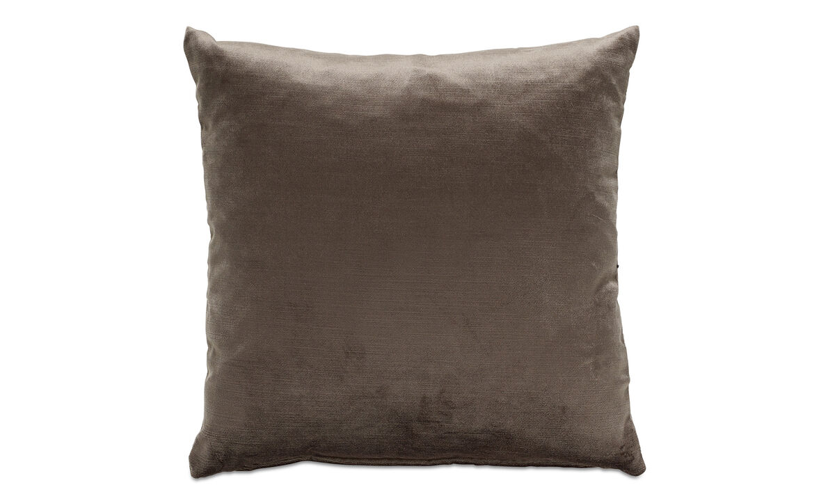 Velvet cushions - Velvet cushion - Brown - Fabric