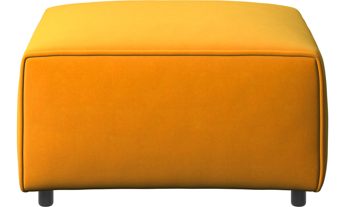 Modular sofas - Carmo footstool - Orange - Fabric