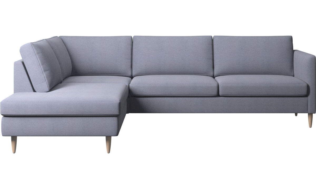 Canapés avec méridienne - canapé d'angle Indivi avec méridienne - Bleu - Tissu