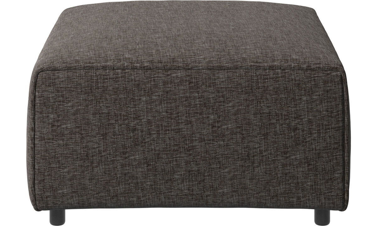 Modulære sofaer - Carmo puf - Brun - Stof