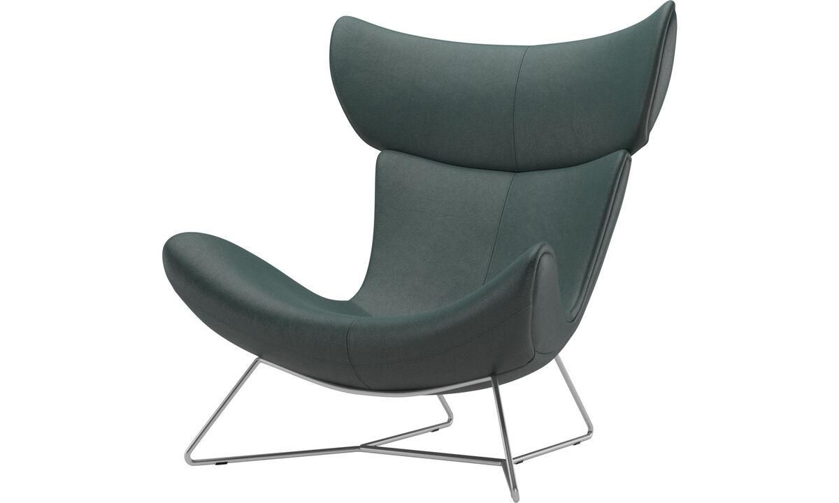 Armchairs - Imola chair - Green - Fabric