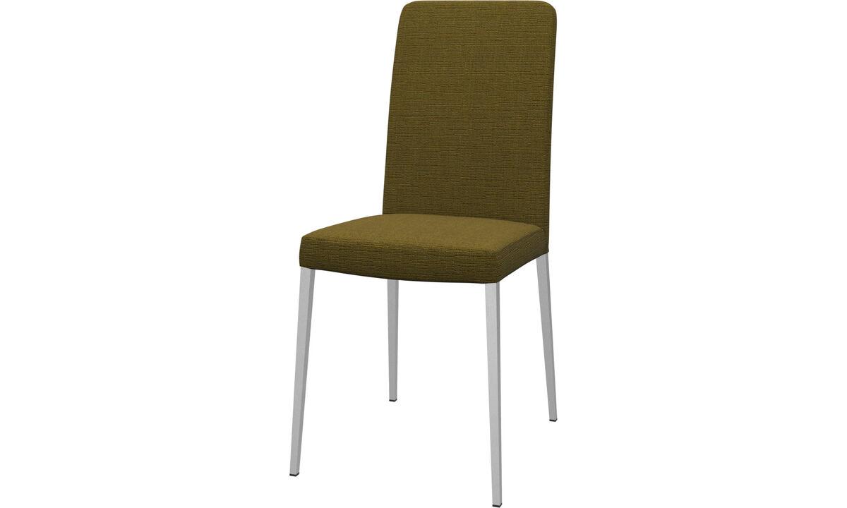 Chaises - chaise Nico - Jaune - Tissu
