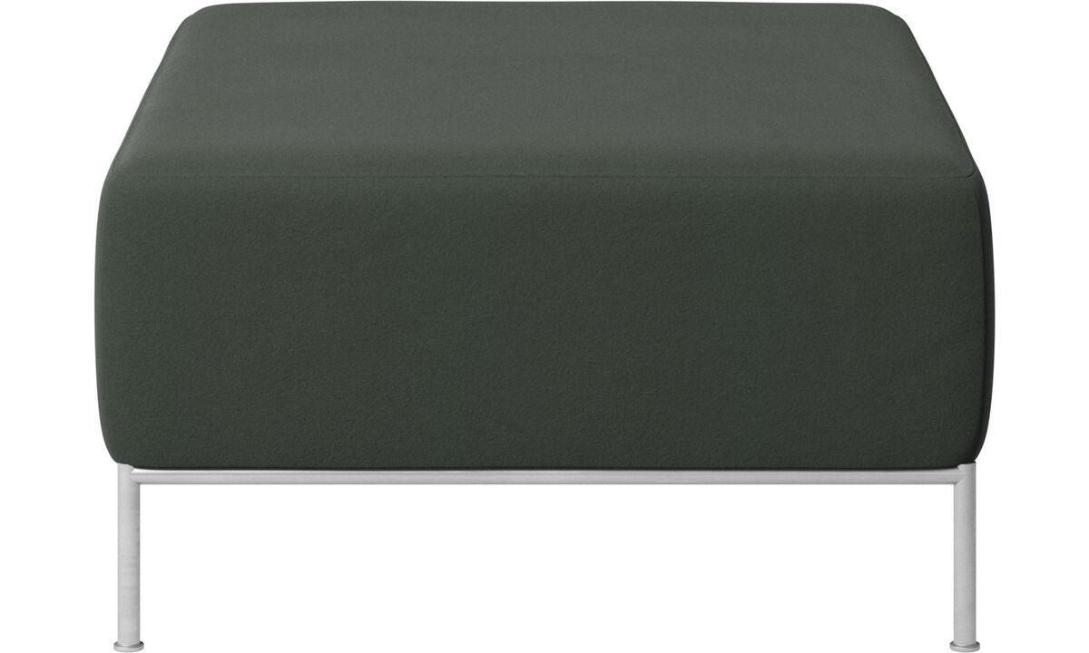 Modular sofas - Miami footstool - Green - Fabric