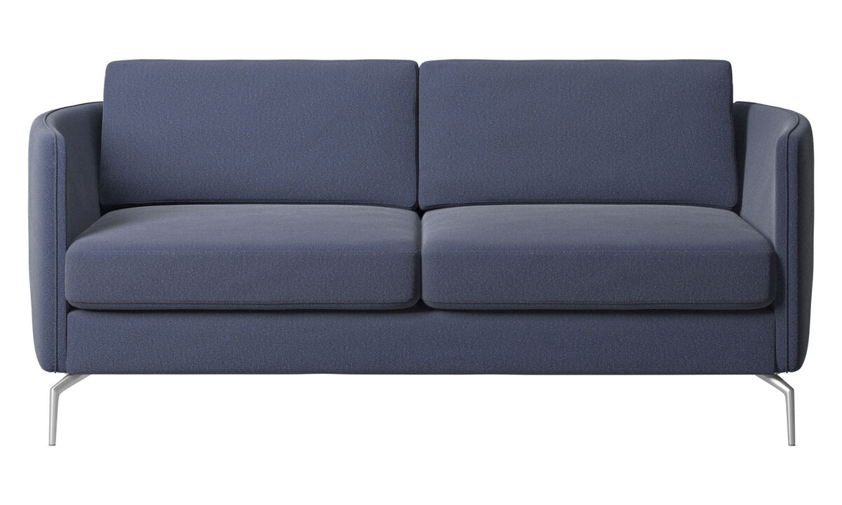 2 seater sofas - Osaka sofa, regular seat - Blue - Fabric
