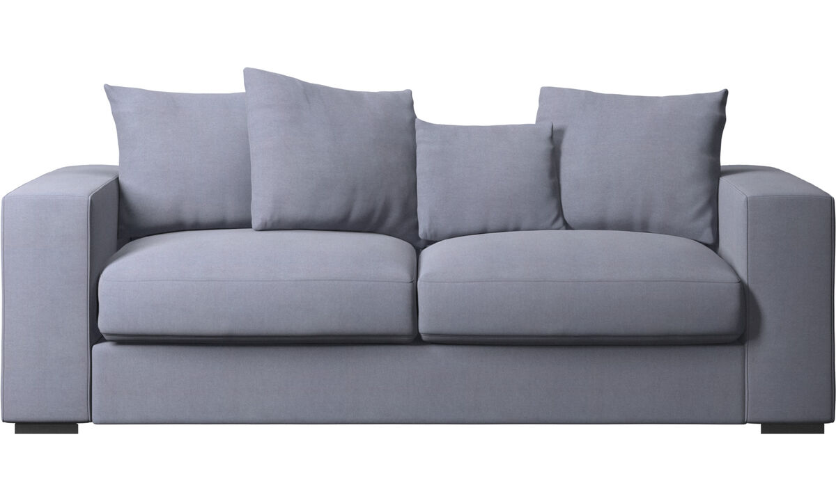 2.5 seater sofas - Cenova sofa - Blue - Fabric