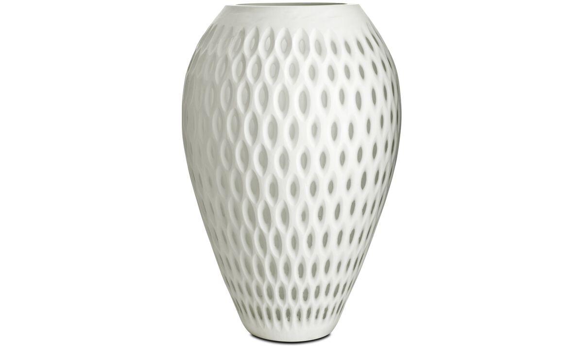 Jarrones - Jarrón Oval dot - Blanco - Cristal
