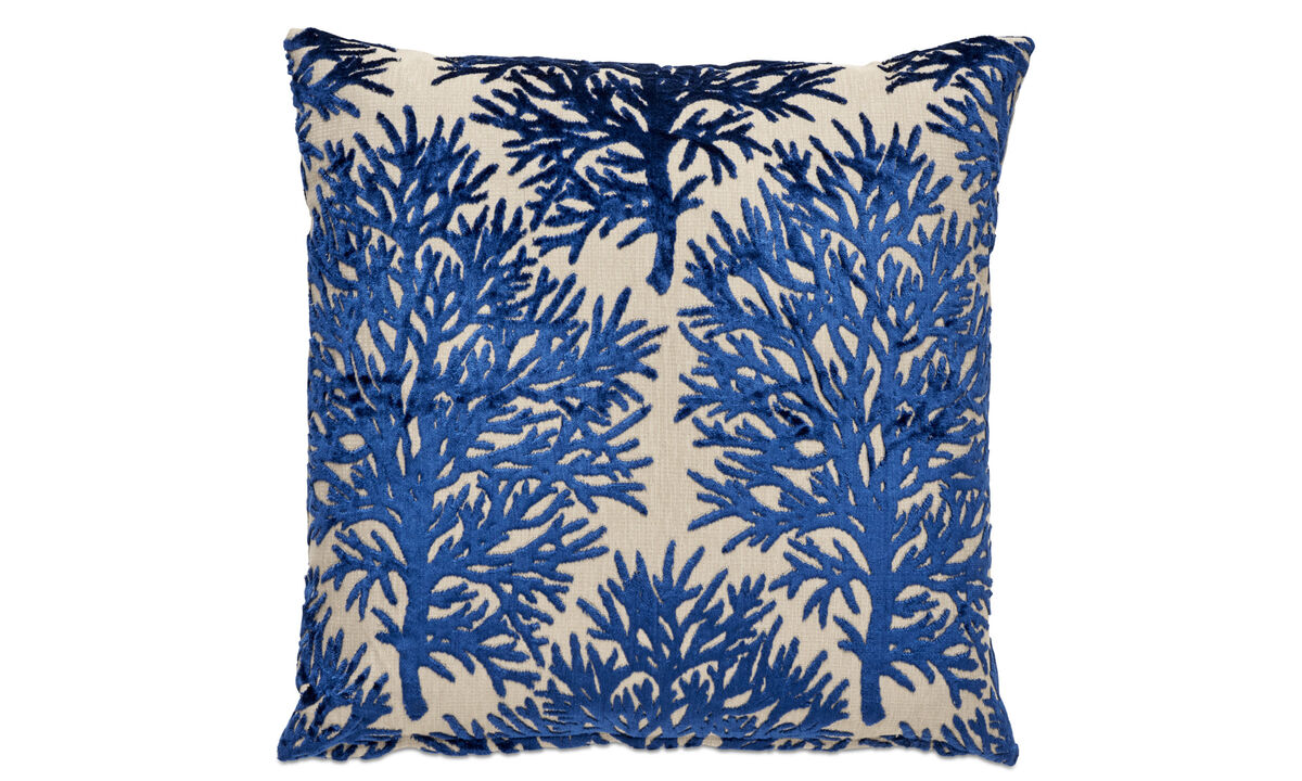 Patterned cushions - Seaweed cushion - Blue - Fabric