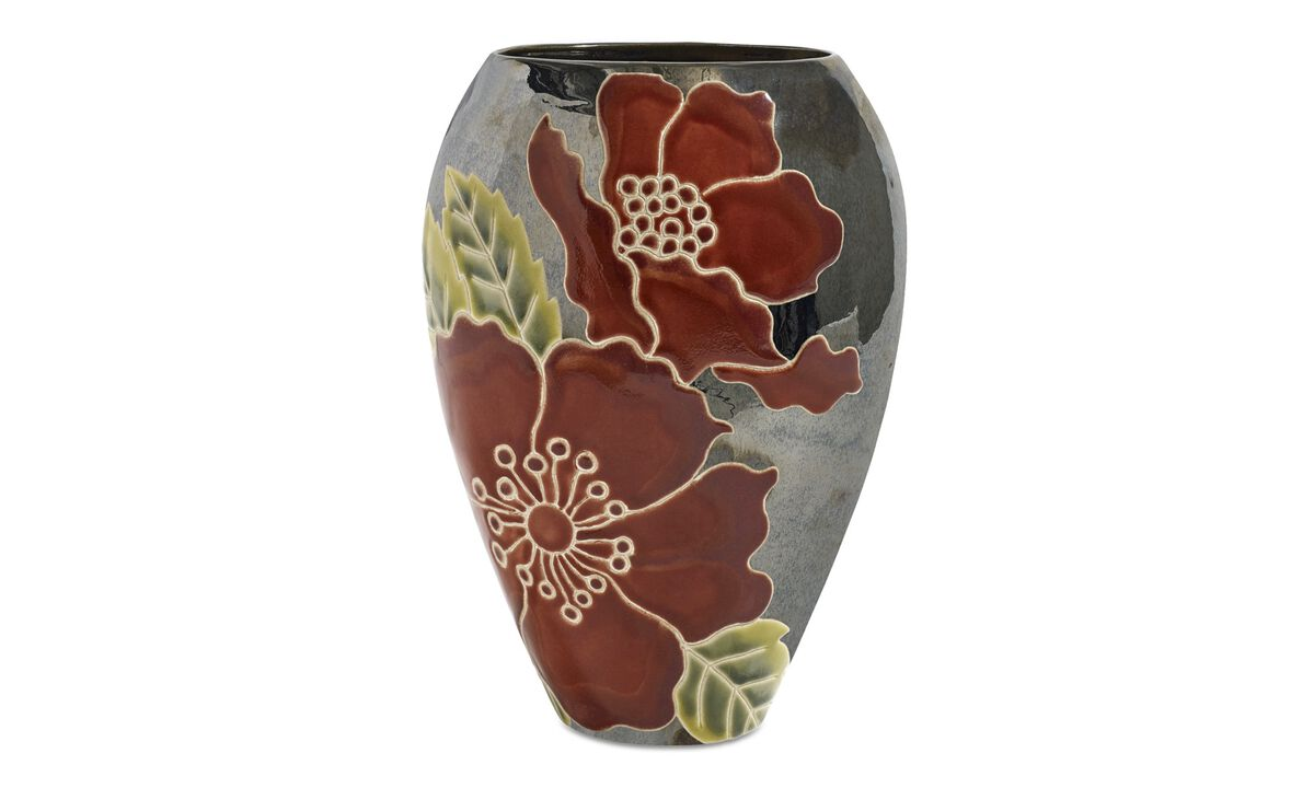 New designs - Blossom vase - Grey - Ceramic