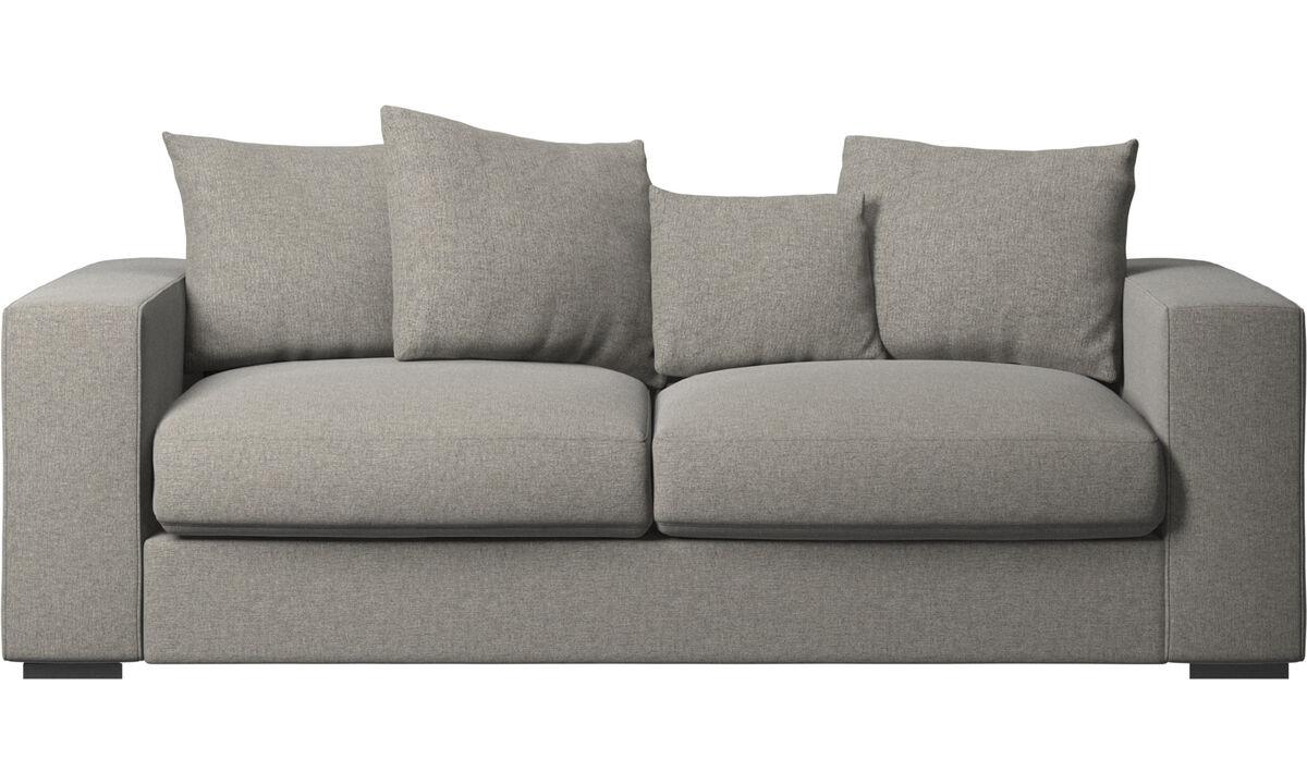 2.5 seater sofas - Cenova sofa - Black - Fabric