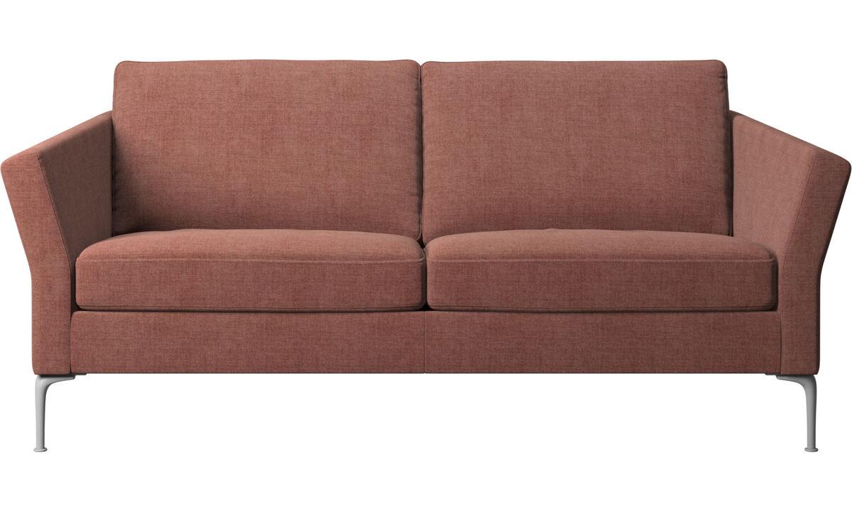 Sofás de 2 plazas y media - sofá Marseille - Rojo - Tela