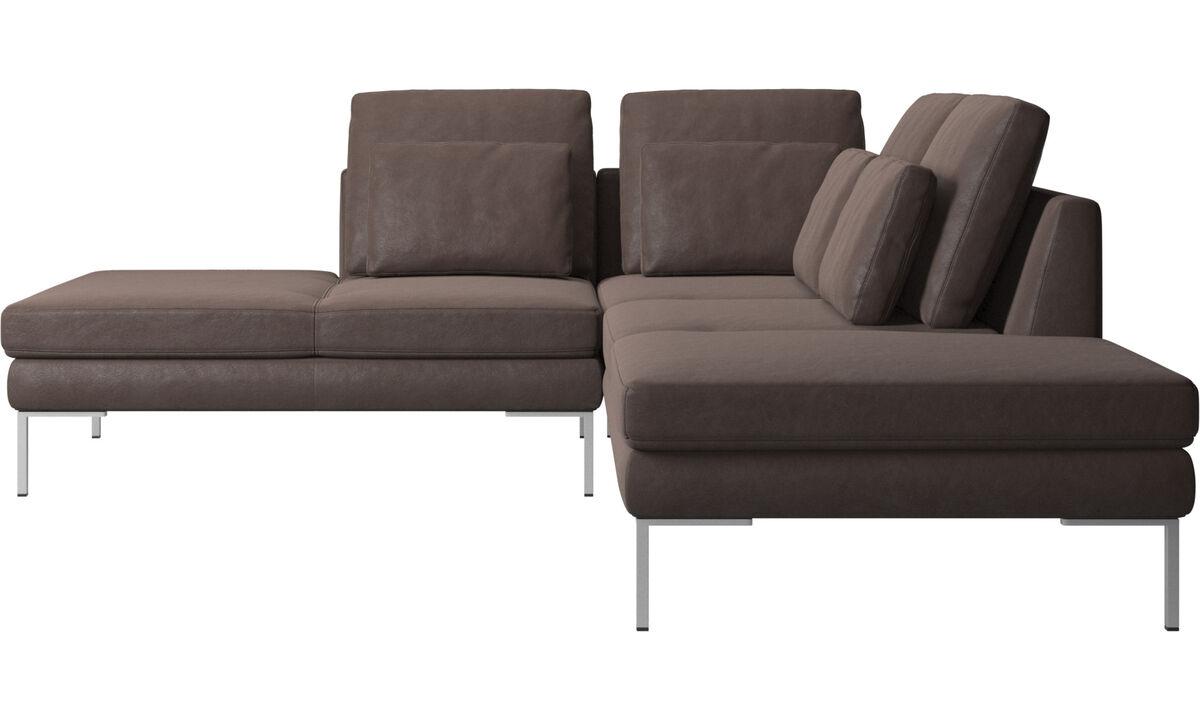 Sofas with open end - Istra 2 divano con lounge - Marrone - Pelle