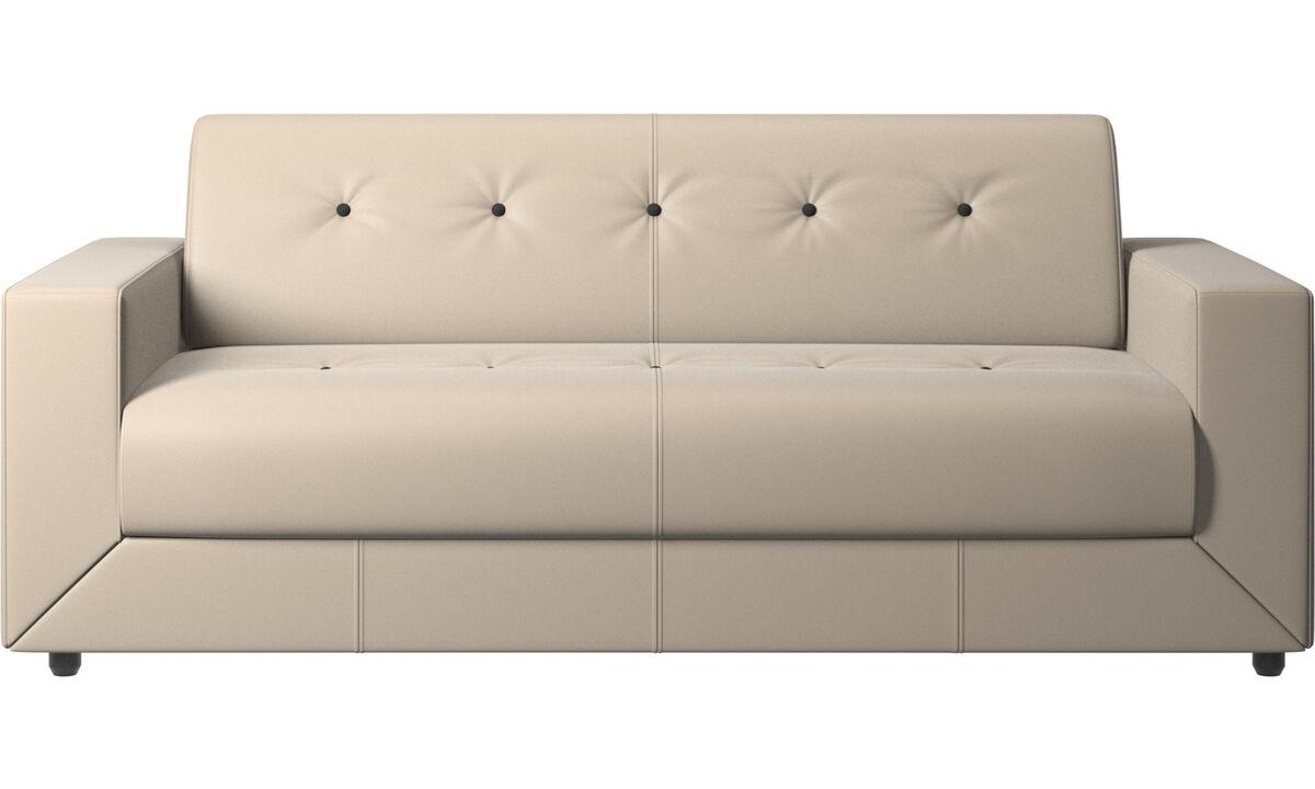 Sofa beds - Stockholm sofa bed - Beige - Leather