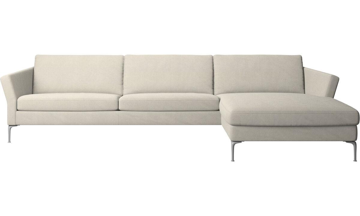 Sofás con chaise longue - sofá Marseille con módulo chaise-longue - Blanco - Tela