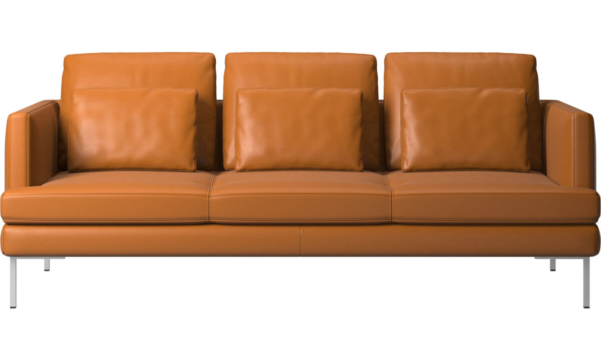 3 seater sofas - Istra 2 sofa - Brown - Leather