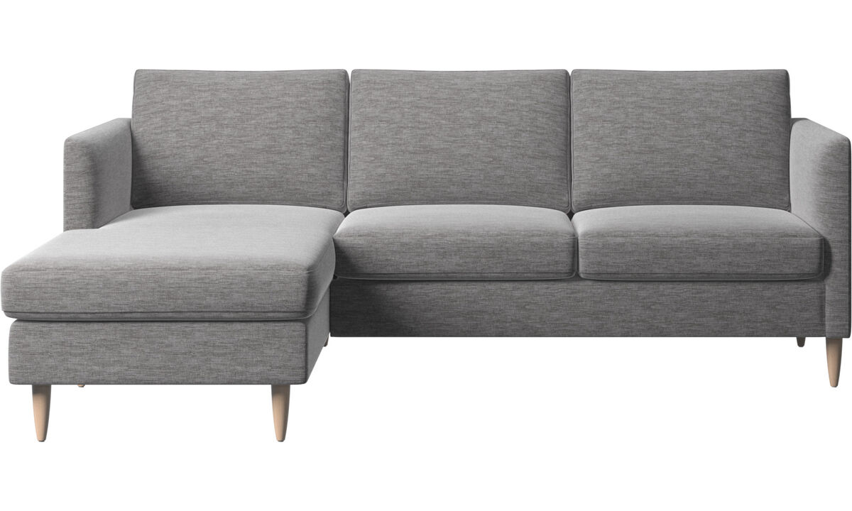 Chaise longue sofas - Indivi sofa with resting unit - Grey - Fabric