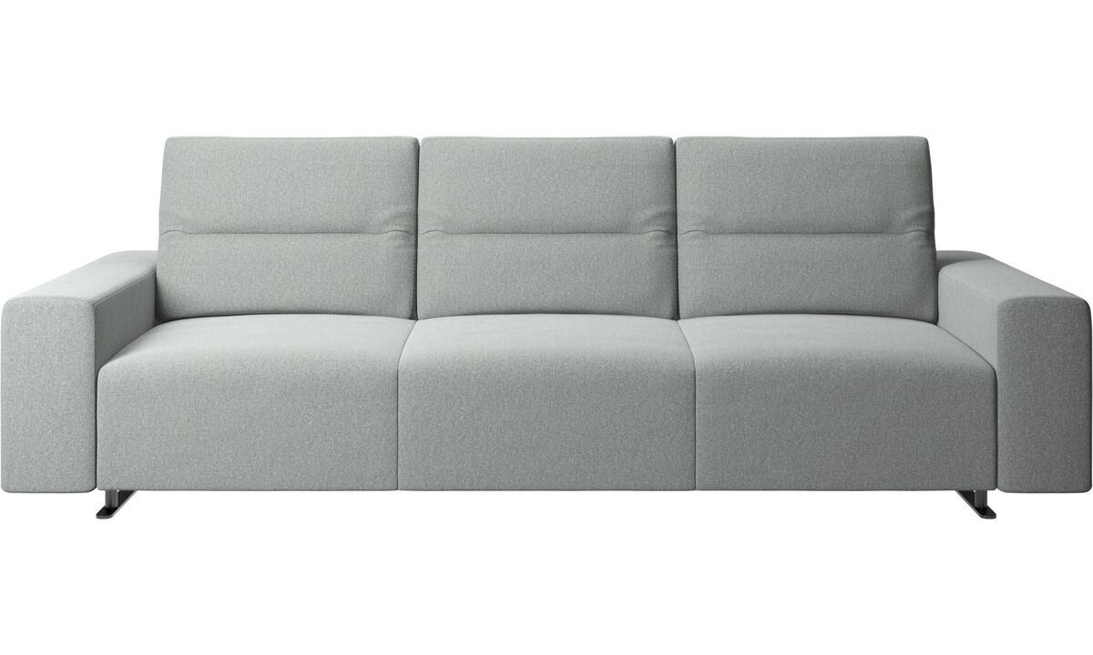 New designs - Hampton sofa with adjustable back - Gray - Fabric