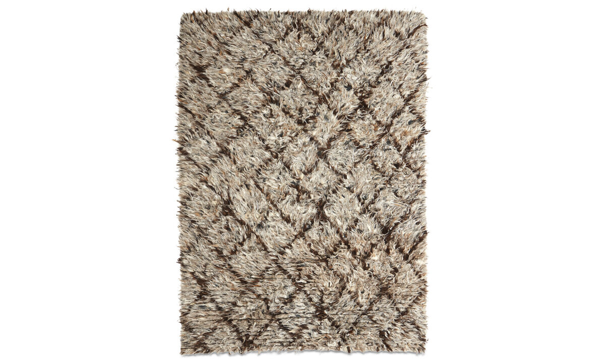 Rectangular rugs - Retrospective rug - rectangular - Brown - Wool