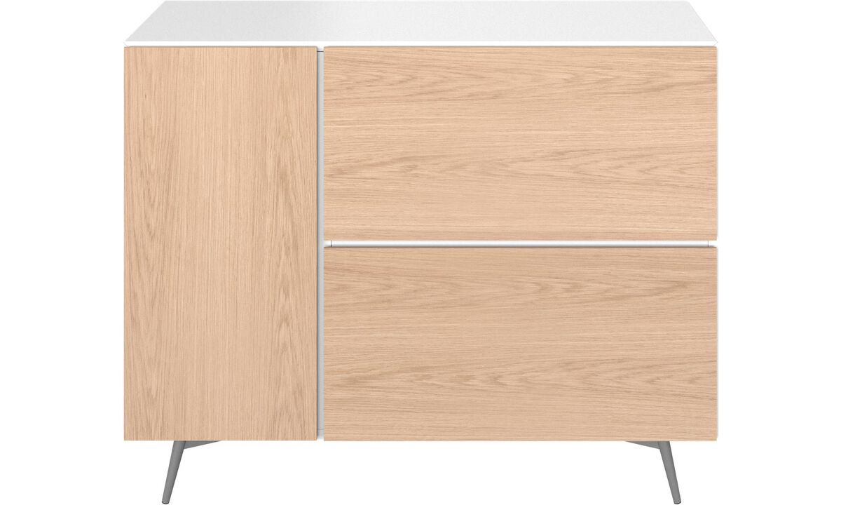 Sideboards - Lugano wall system with drawers - White