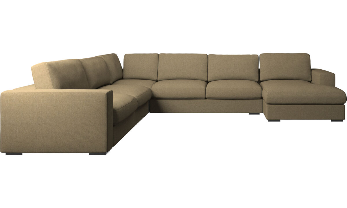 Chaise longue sofas - Cenova corner sofa with resting unit - Green - Fabric