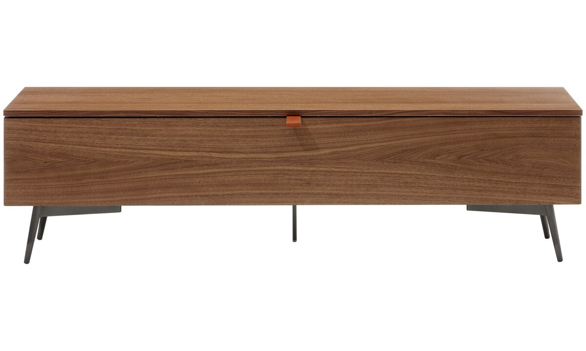 Benches - Lugano bench with storage - Walnut
