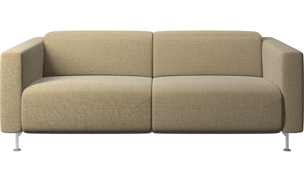 Relax-Sofas - Parma Sofa mit Lehnfunktion - Gelb - Stoff