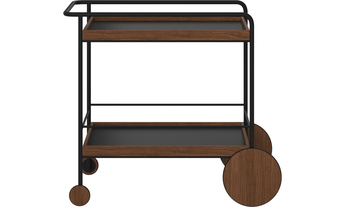 Side tables - Sydney trolley - rectangular - Brown - Lacquered