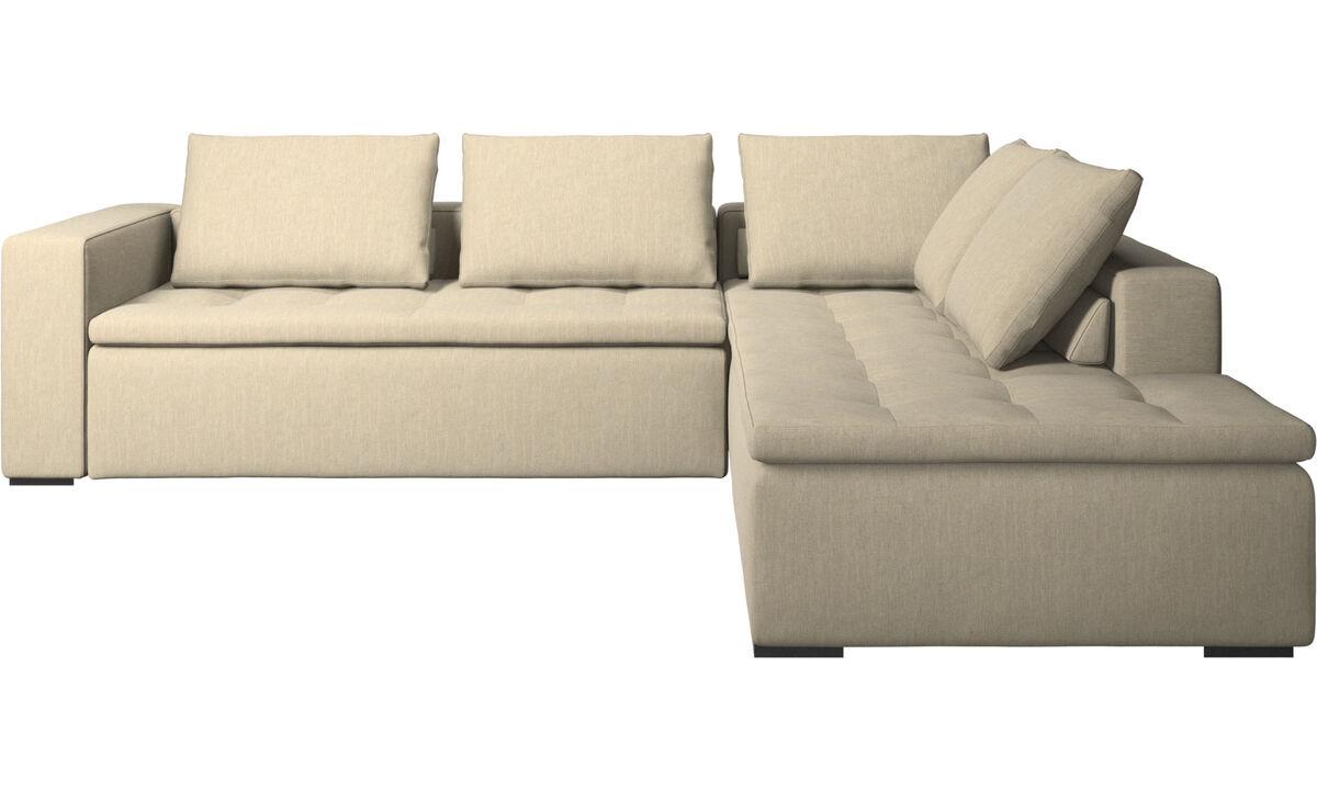Угловые диваны - Угловой диван Mezzo с модулем для отдыха - Коричневого цвета - Tкань