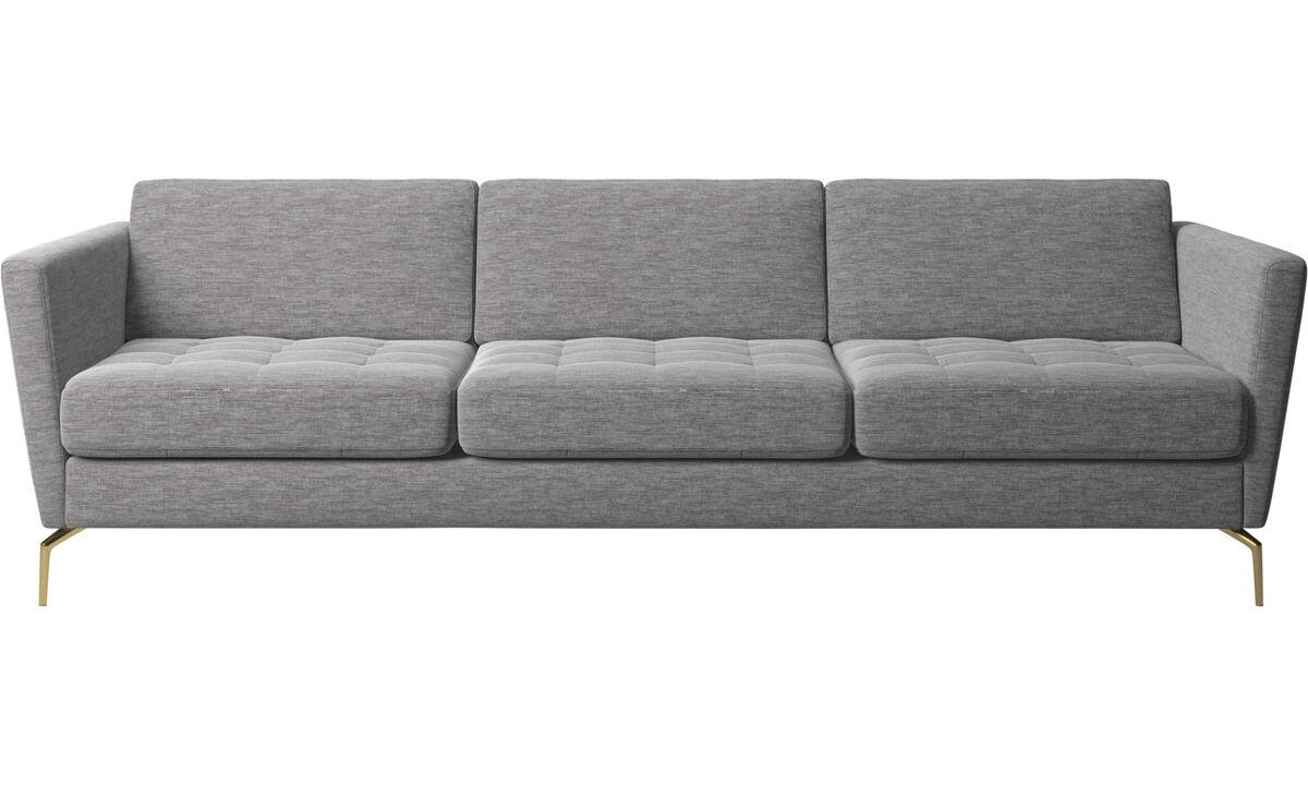 3 seater sofas - Osaka sofa, tufted seat - Gray - Fabric