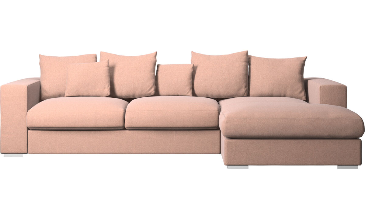 Chaise lounge sofas - Cenova sofa with resting unit - Red - Fabric