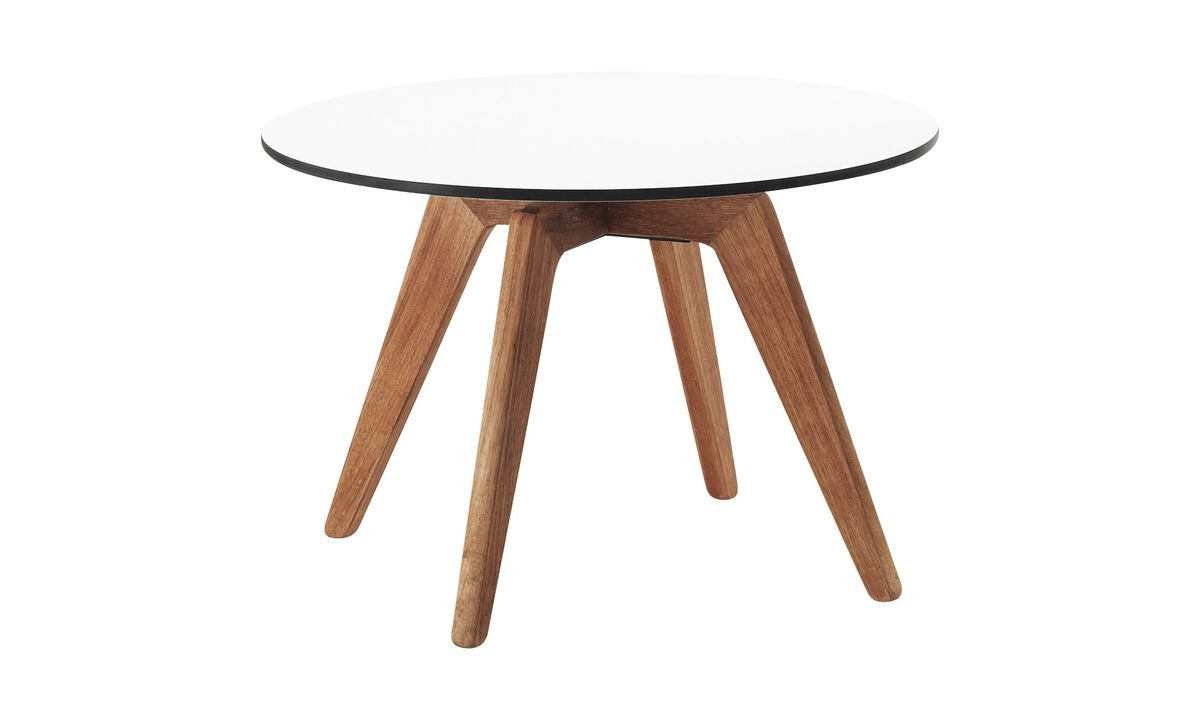 Outdoor tables - Adelaide table (for in and outdoor use) - round - White - Laminate