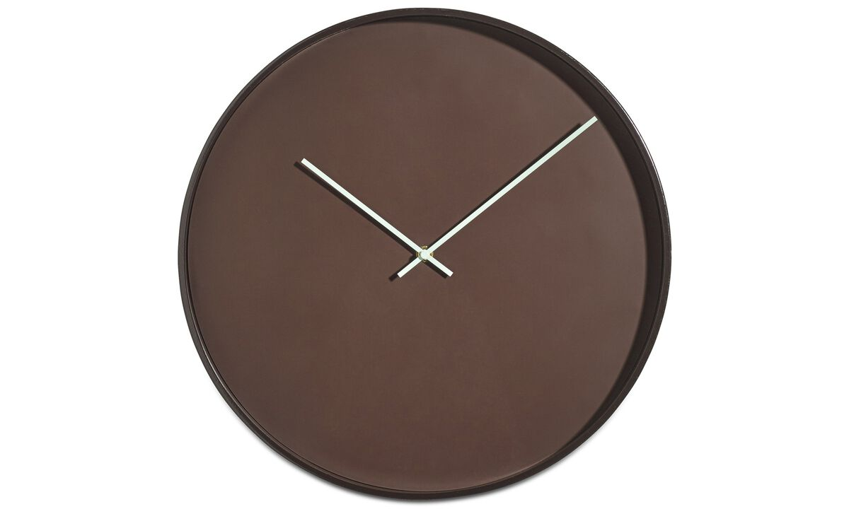 Clocks  - Vega wall clock - Red - Metal