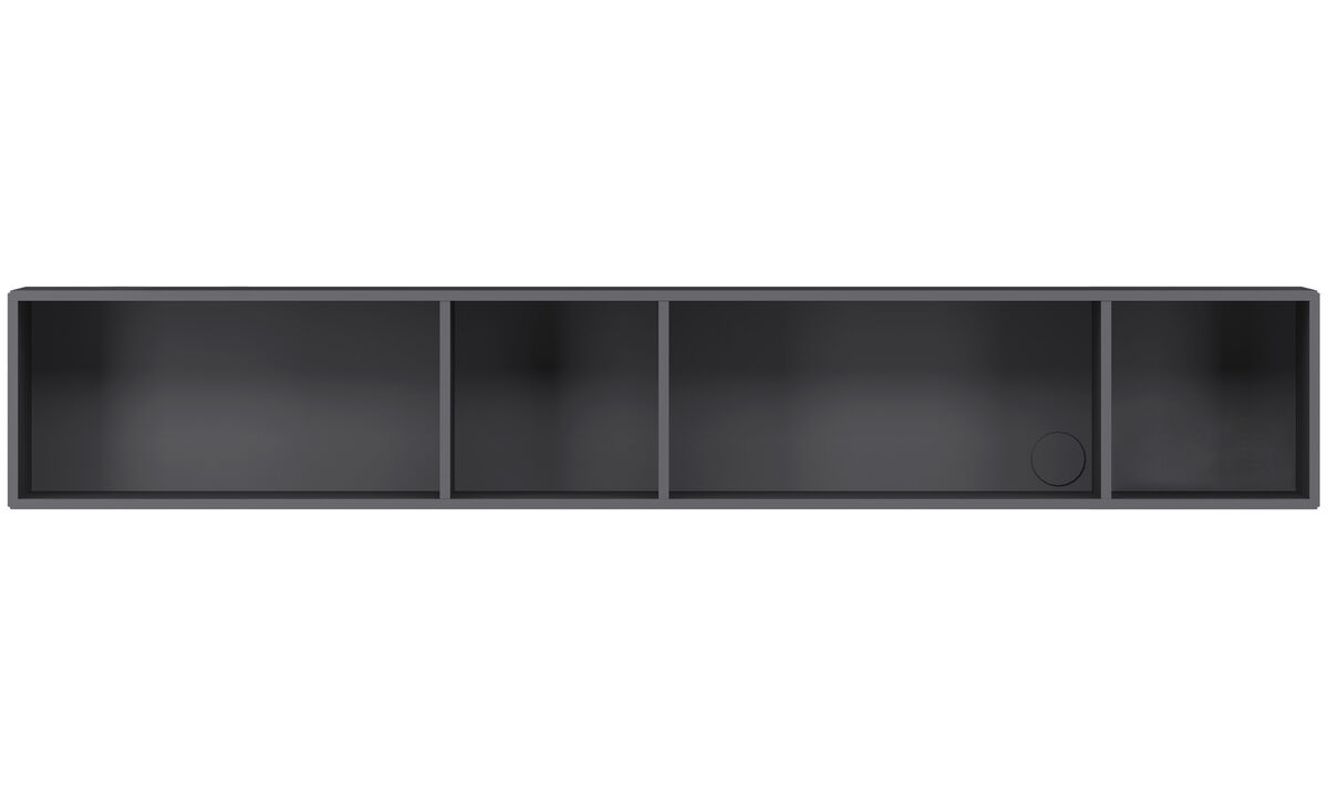 Wall systems - Como bookcase - Gray - Lacquered