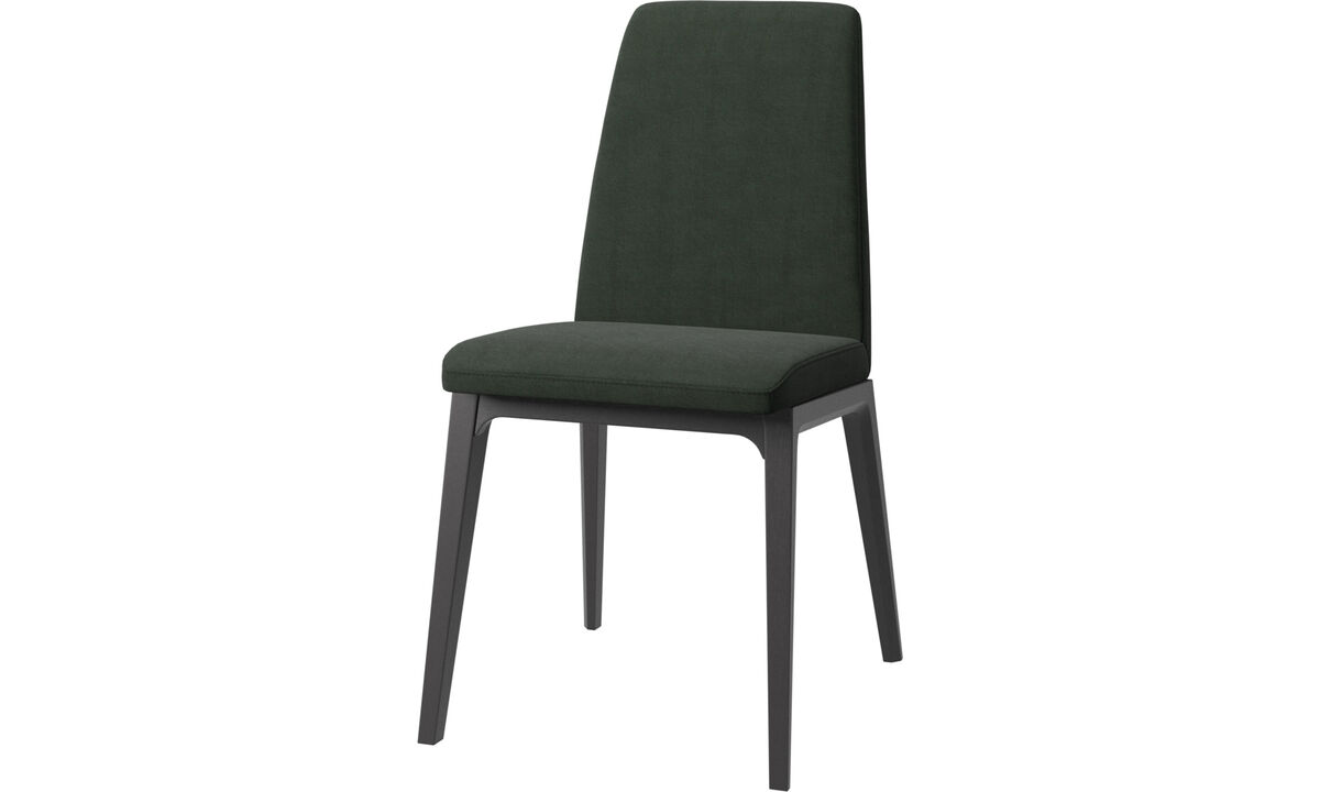 Dining chairs - Lausanne chair - Green - Fabric
