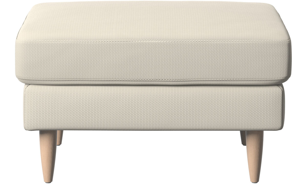 Ottomans - Osaka footstool, regular seat - White - Fabric