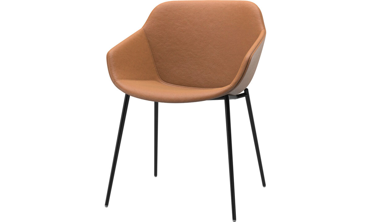 Dining chairs - Vienna chair - Brown - Leather
