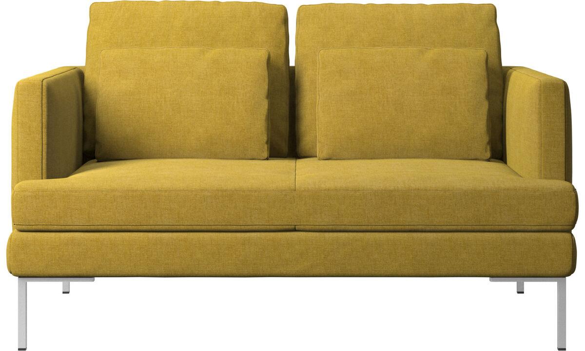 Sofás de 2 plazas - sofá Istra 2 - En amarillo - Tela
