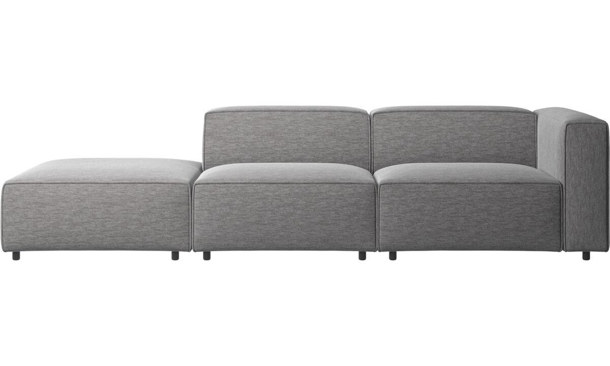 Modulære sofaer - Carmo sofa med loungemodul - Grå - Stof