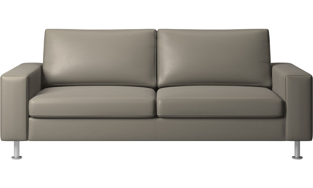 Sofa beds - Indivi sofa bed - Grey - Leather