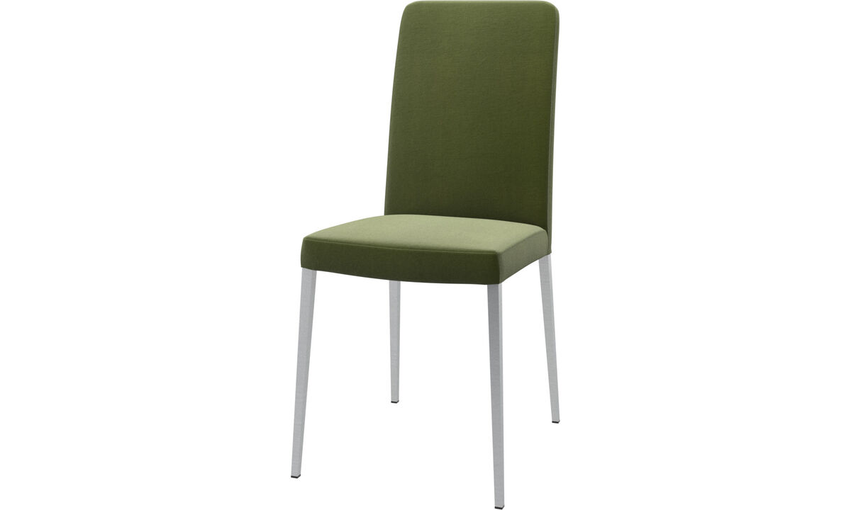 Dining chairs - Nico chair - Green - Fabric