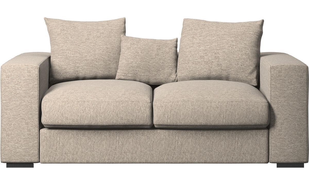 2 seater sofas - Cenova sofa - Beige - Fabric