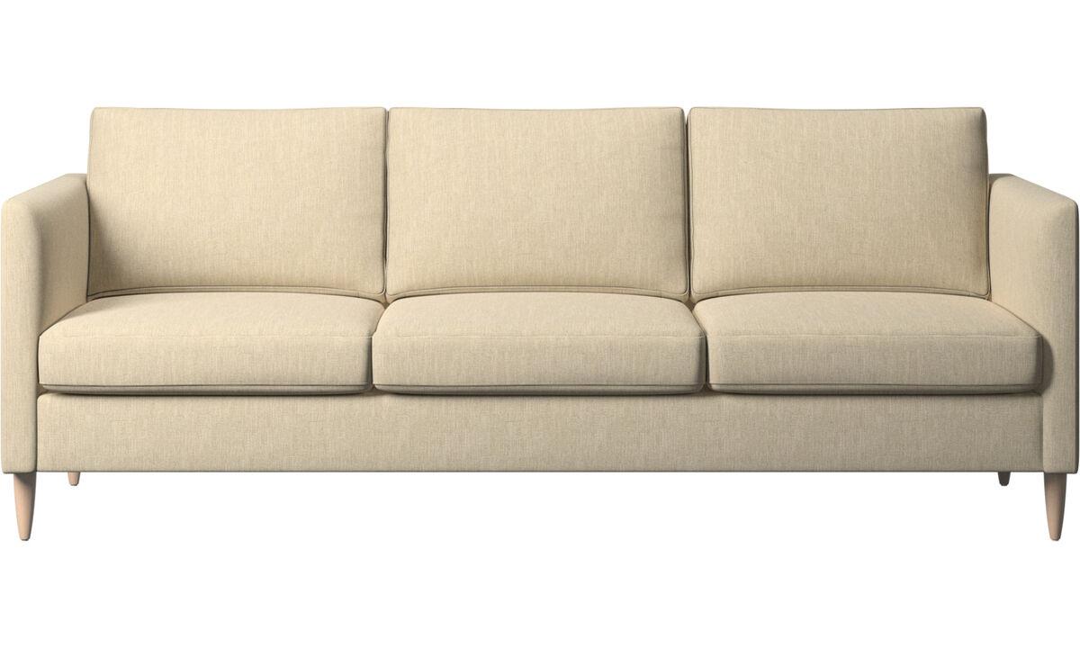 3-sitzer Sofas - Indivi Sofa - Braun - Stoff