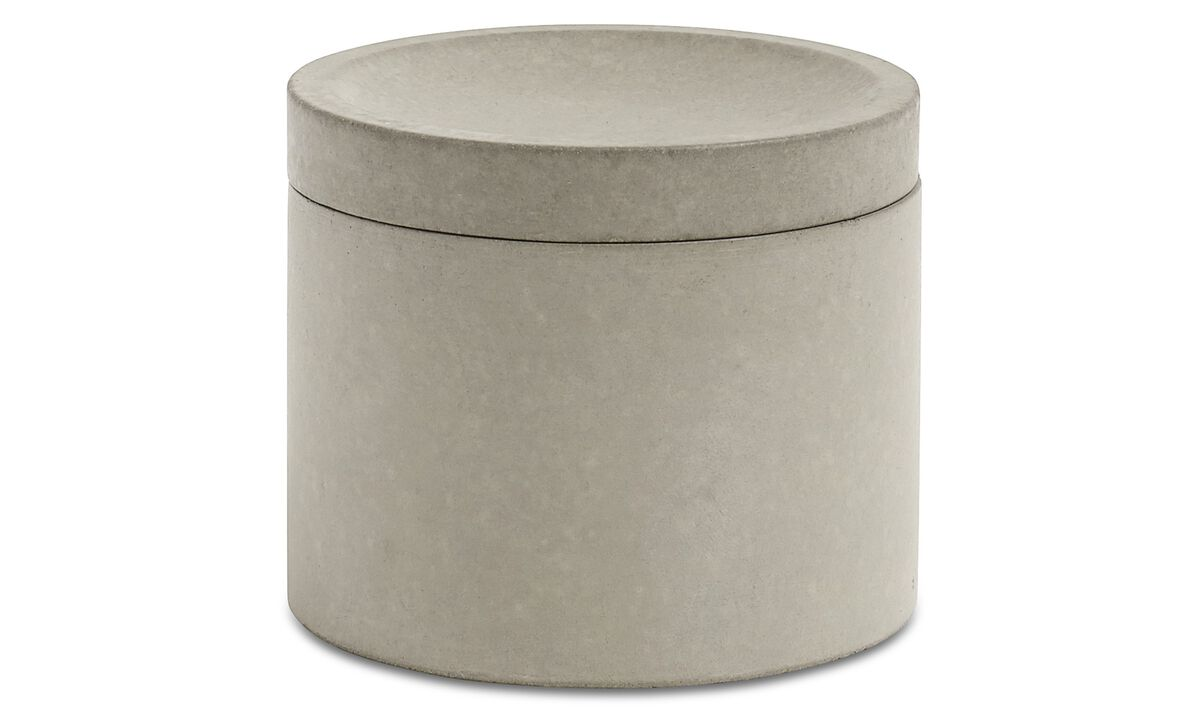 Functional accessories - Vasetto con coperchio Living - Grigio - Cemento