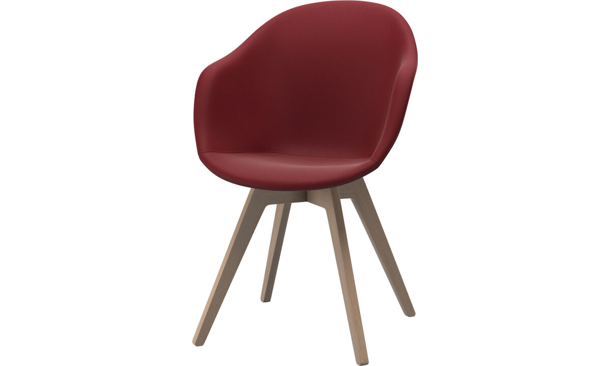 Dining chairs - Adelaide chair - Red - Leather