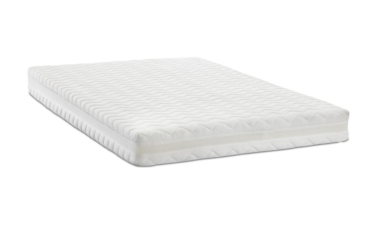 Mattresses - Comfort Hybrid firm/extra firm mattress - White - Fabric