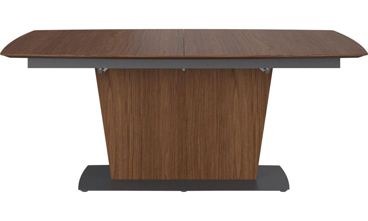 Mesas de comedor - mesa extensible con tablero suplementario Milano - rectangular - En marrón - Nogal