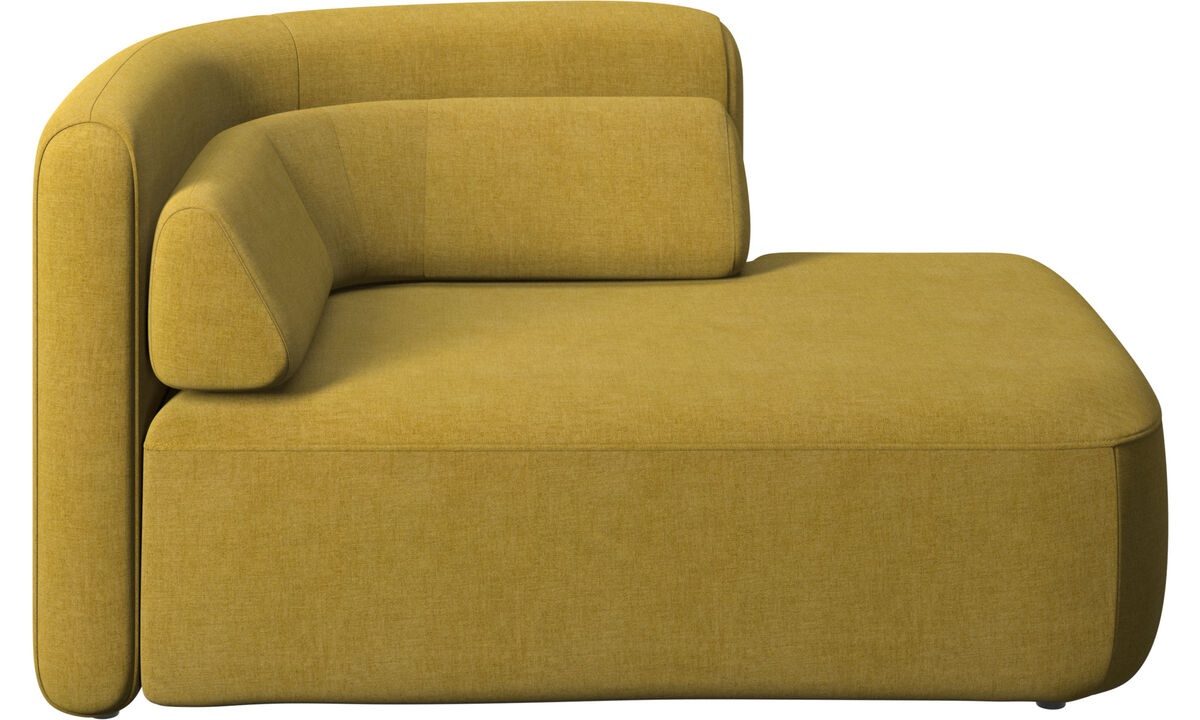 Modular sofas - Ottawa 1,5 seater open end right side - Yellow - Fabric
