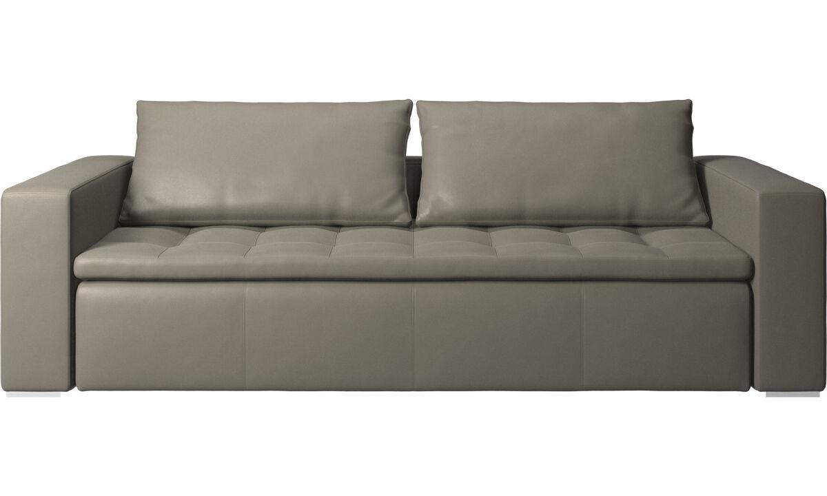 3 seater sofas - Mezzo sofa - Grey - Leather