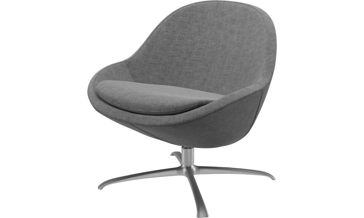 Fauteuils - fauteuil Veneto avec fonction pivotante - Gris - Tissu